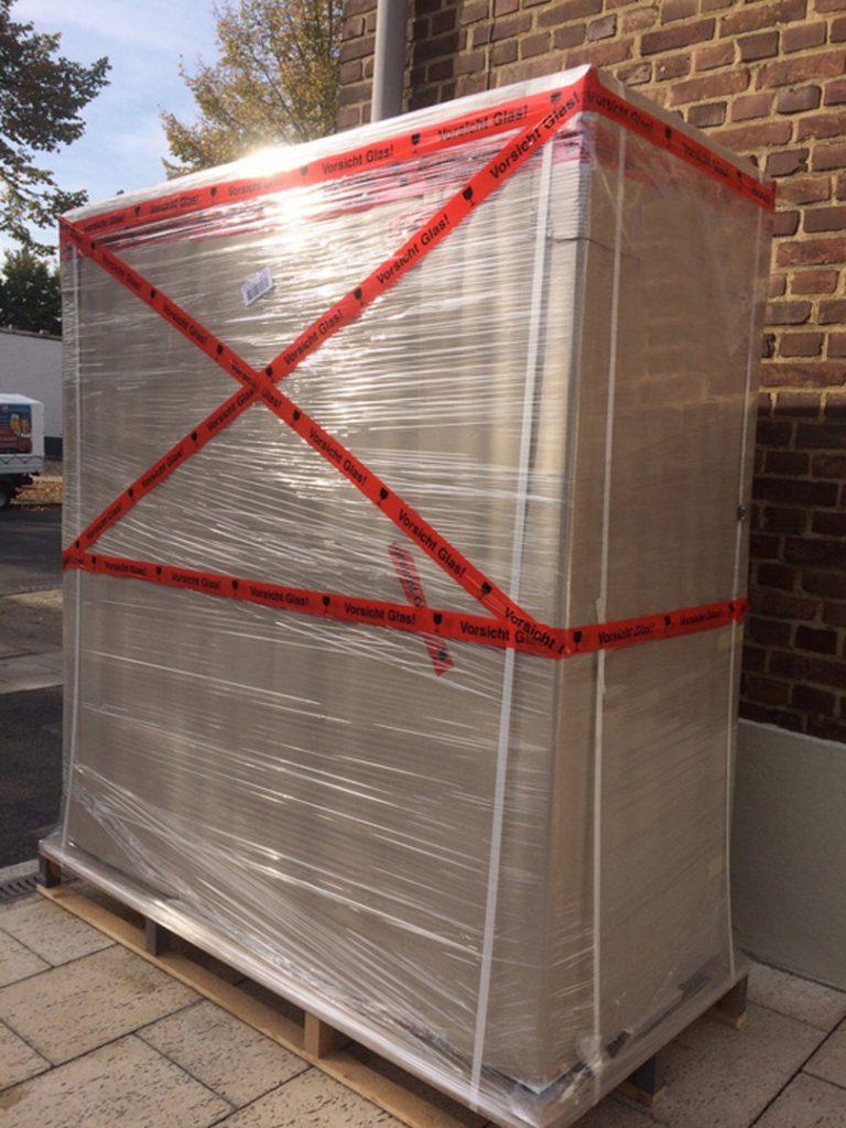 Terrarium für den versicherten Speditionsversand verpackt