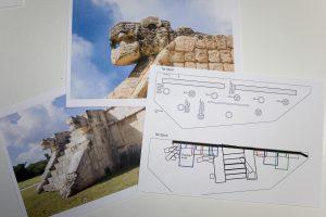 Landschaftsplanung nach Originalfotos der Mayatempelanlage Chichén Itzá in Mexiko