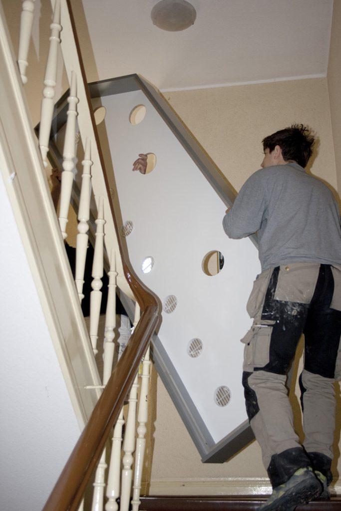 Anlieferung in die 2.Etage in Einzelteilen