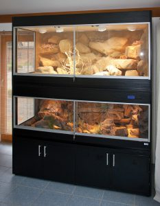 Doppelstöckiges Wüstenterrarium für Klapperschlangen und Skorpione