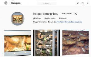 Den Hoppe-Terrarienbau-Exclusiv finden Sie auch auf Instagram