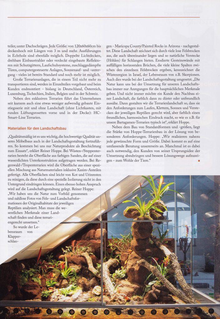Bericht über unseren Terrarienbau im Branchenforum 08-2014