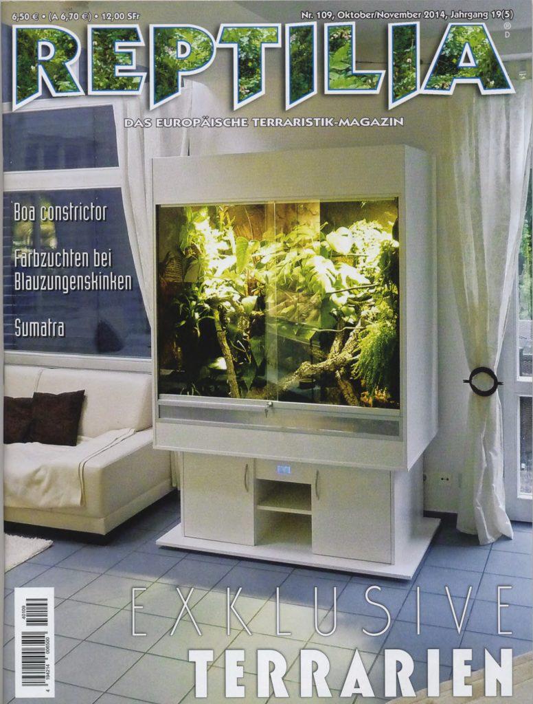 Bericht über uns in der REPTILIA 10/2014: Luxusvillen für Reptilien