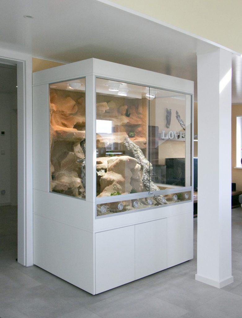 Wüsten-Steppenterrarium mit 2 Festglaselementen