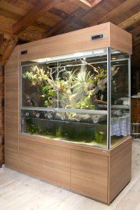 Aqua-Terrarium als Raumteiler