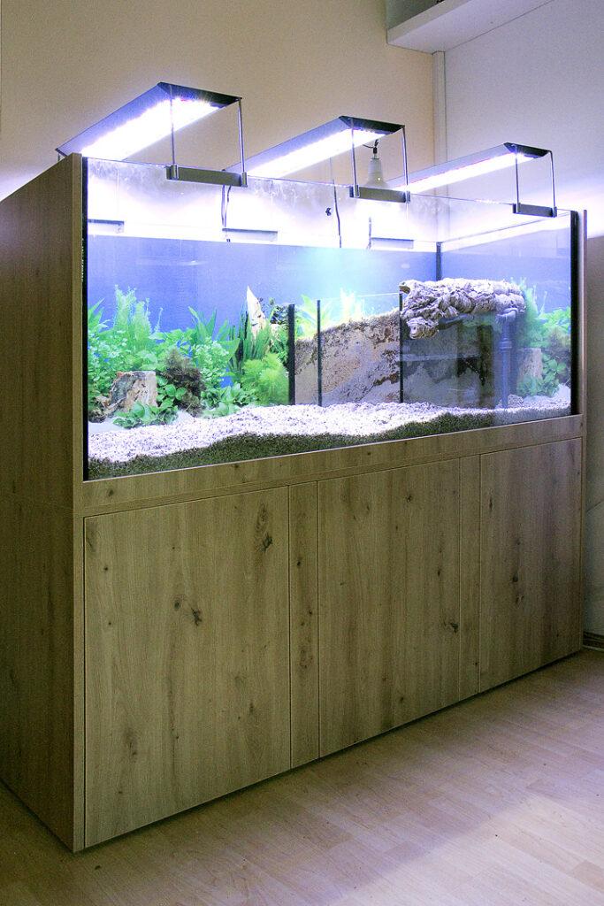 Aquarium für eine Wasserschildkröte