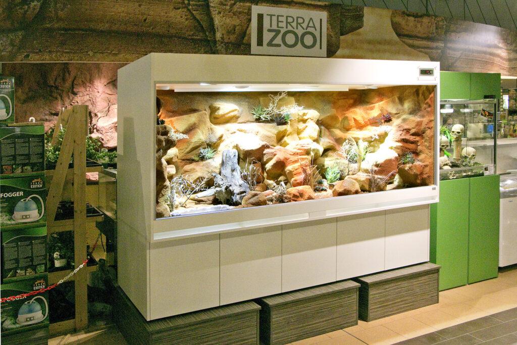 Terrarium in der Ausstellung von Megazoo Hannover