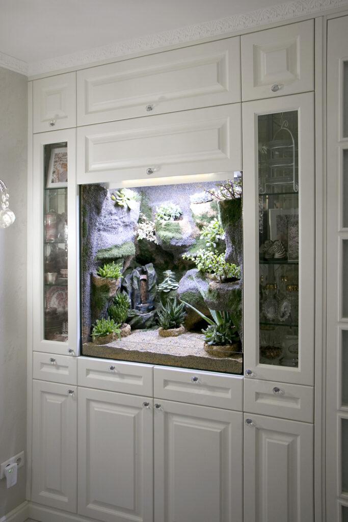 Florarium zum Einbau in eine Schrankwand
